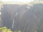 Barely a trickle of water at jog falls