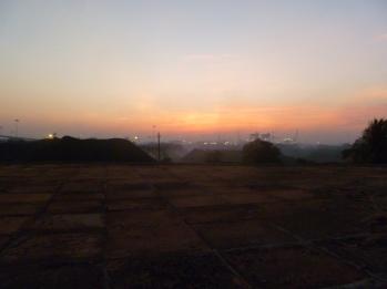 Sunrise and coal